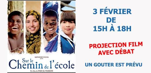 """Projection film """"Sur le chemin de l'école"""""""