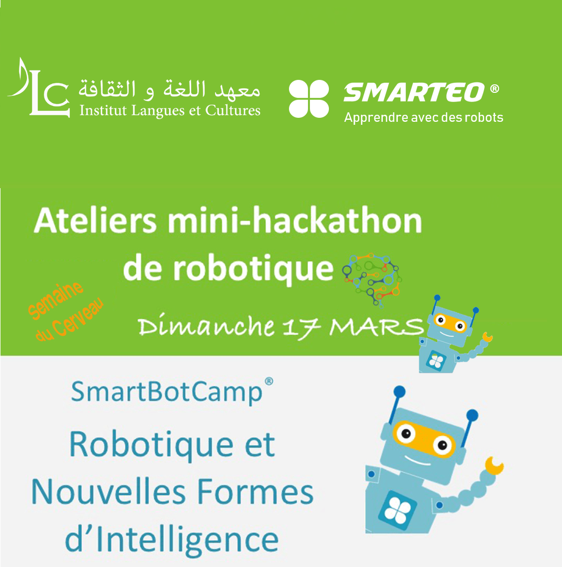 Ateliers mini-hackathon  de robotique
